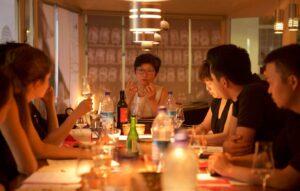Sake Schulung im Sushi Restaurant Sushiya München