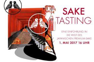 Flyer für das Sake Tasting im Sushi Restaurant Sushiya München