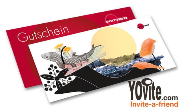 鮨屋 ミュンヘン店でのお寿司の引換券
